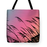 Rainbow Batik Sea Grass Gradient Silhouette Tote Bag