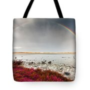 Rainbow By The Lake Tote Bag
