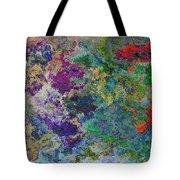 Rainbow Fish Watercolor Abstract Art Tote Bag