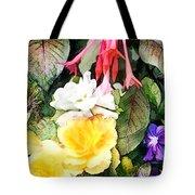 Rainbow Flower Basket Tote Bag