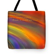 Rainbow Haiku Tote Bag