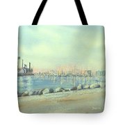 Rainbow Harbor And The Oil Island Tote Bag