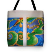 Rainbow Healing For The Family Tote Bag