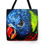 Rainbow Lorikeet Look Tote Bag