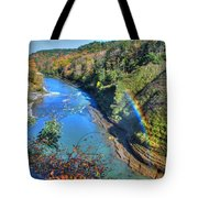 Rainbow On A Beautiful Oct Day Tote Bag