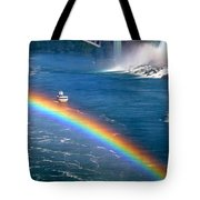 Rainbow On Niagara Falls Tote Bag