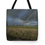 Rainbow Over Fields At Kangaroo Island Tote Bag