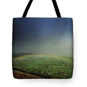Rainbow Over Fields In Slieve Gullion Tote Bag