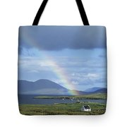 Rainbow Over Mountains, Ballinskelligs Tote Bag