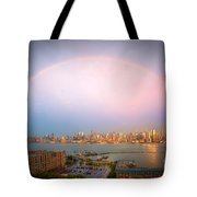 Rainbow Over New York City II Tote Bag