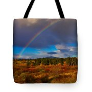 Rainbow Over Rithets Bog Tote Bag by Louise Heusinkveld