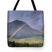 Rainbow Over Willmore Wilderness Park Tote Bag