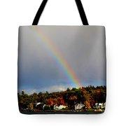 Rainbow Over Winnepesaukee Tote Bag