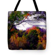 Rainbow Treetops Tote Bag by DigiArt Diaries by Vicky B Fuller