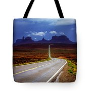 Rainclouds Over Monument Valley Tote Bag