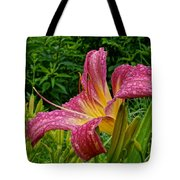 Raindrops On Lilly Tote Bag