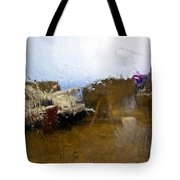Rainy Day Abstract Tote Bag