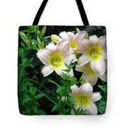 Rainy Day Day Lilies Tote Bag