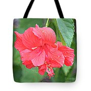 Rainy Day Hibiscus Tote Bag