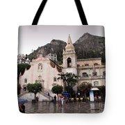 Rainy Day In Taormina Tote Bag