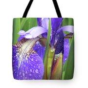 Rainy Day Iris  Tote Bag