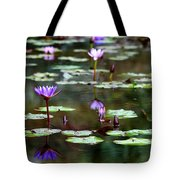 Rainy Day Lotus Flower Reflections Iv Tote Bag