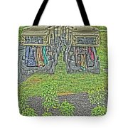 Rainy Day On The Links Tote Bag