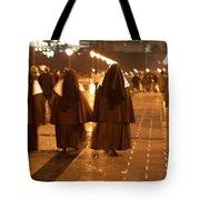 Rainy Night Nuns Tote Bag