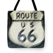 Rainy Night On Route 66 Tote Bag