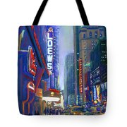 Rainy Reflections In Times Square Tote Bag