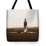 Ram Island Ledge Lighthouse Tote Bag
