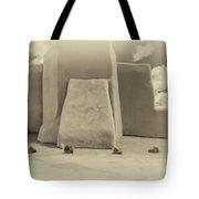 Ranchos Church Antique Plate  Tote Bag