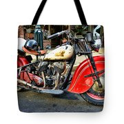 Rare Indian Motorcycle Tote Bag