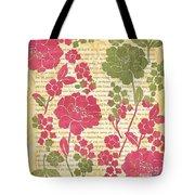 Raspberry Sorbet Floral 2 Tote Bag
