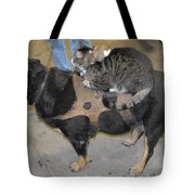 Rat Cat Dog Tote Bag