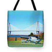 Ravanel Bridge At Patriot Point Charleston Sc Tote Bag