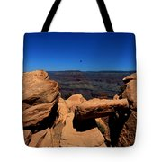 Raven Flying Near Ooh Aah Point Tote Bag