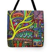 Raven Spirit Tree Totem Goddess Tote Bag