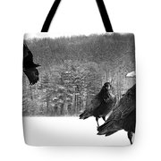 Ravens By A Woods Tote Bag