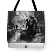 Reading Emancipation Proclamation Tote Bag
