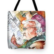 Reading The News 07 Tote Bag