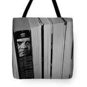 Reading With Dick In Black And White Tote Bag