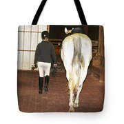 Ready For The Dressage Lesson Tote Bag