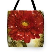 Really Red Posey Tote Bag