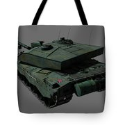 Rear View Of A British Challenger II Tote Bag by Rhys Taylor