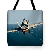 Rear View Of An Fa-18c Hornet Taking Tote Bag