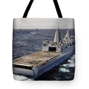 Rear View Of Uss Green Bay Tote Bag