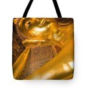 Reclining Buddha At Wat Pho, Low Angle Tote Bag