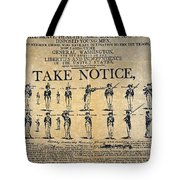 Recruiting Broadside, C1798 Tote Bag