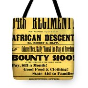 Recruiting Poster, 1863 Tote Bag